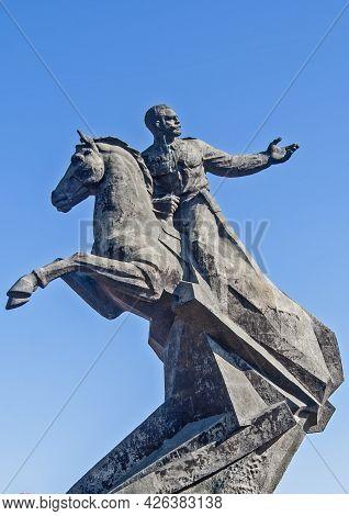 A Communist Statue In A Public Park, Santiago, Cuba.