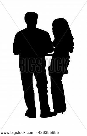 Business People Silhouette Set Of 2 Unique High-detailed Silhouettes Featuring Beautiful Models