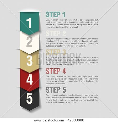 Arrows steps design template. Fully editable vector.