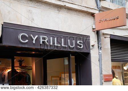 Montpellier , Ocitanie France  - 06 30 2021 : Cyrillus Logo Text Fashion Sign Store Fashion Clothing