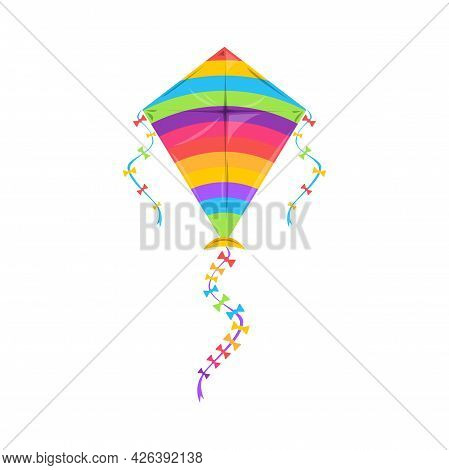 Kite Flying Makar Sankranti Festival, Indian Holiday Symbol Isolated Controllable Object In Kiteboar