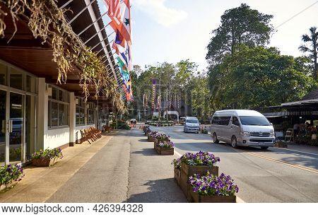 Chiang Rai Province, Thailand - February 18, 2019: Doi Tung Royal Villa And Mae Fah Luang Garden. En