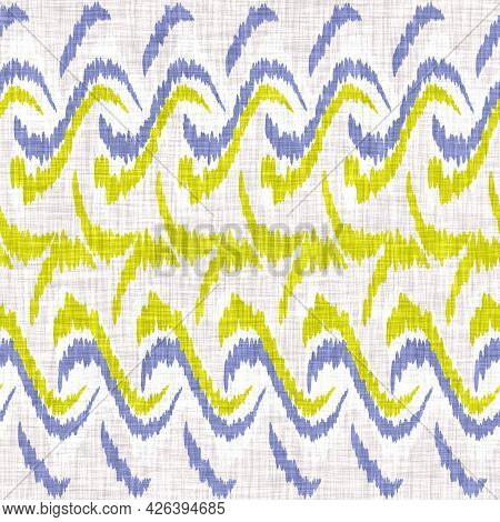 Watercolor Doodle Zig Zag Background. Hand Painted Whimsical Geometric Seamless Pattern. Decorative