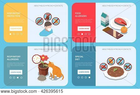Diet Alleviating Food Allergy Symptoms Respiratory Protection Face Masks 4 Isometric Informative Web