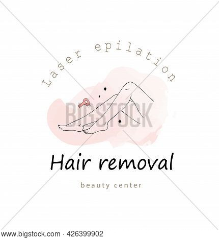 Laser Epilation And Cosmetology. Female Smooth Legs. Hair Removal Procedure. Skin Care And Spa Conce