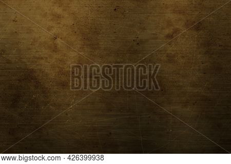 Grunge style scratched metal plate texture background
