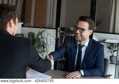 Employer Hiring Happy Candidate After Successful Interview