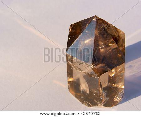 Rauchquarz Kristall in Sonne