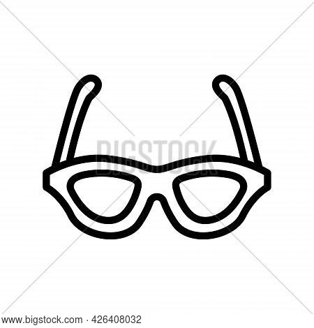 Glasses Line Icon. Summer Eyewear Sun Protection Sunglass. Optic Eyeglasses. Outline Sign For Mobile