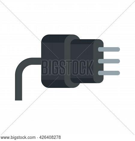 Laptop Plug Icon. Flat Illustration Of Laptop Plug Vector Icon Isolated On White Background