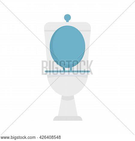 Apartment Toilet Icon. Flat Illustration Of Apartment Toilet Vector Icon Isolated On White Backgroun