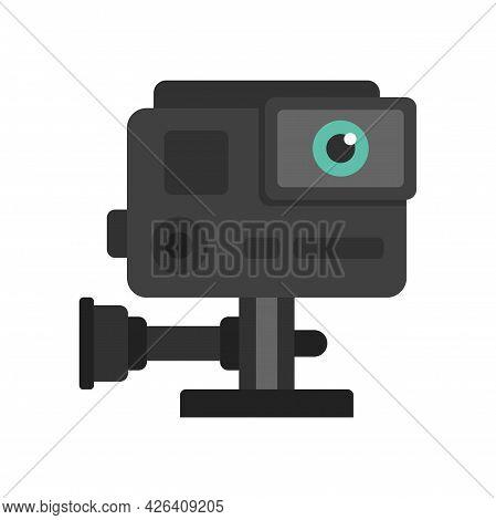 Hand Action Camera Icon. Flat Illustration Of Hand Action Camera Vector Icon Isolated On White Backg