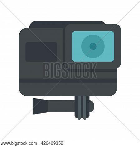 Cinema Action Camera Icon. Flat Illustration Of Cinema Action Camera Vector Icon Isolated On White B