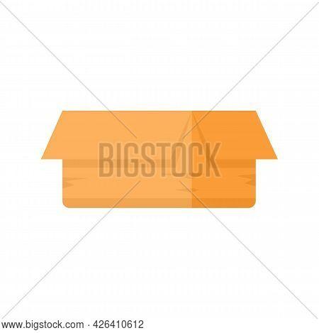 Carton Box Icon. Flat Illustration Of Carton Box Vector Icon Isolated On White Background