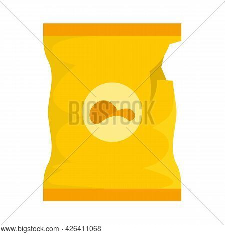 Empty Chips Package Icon. Flat Illustration Of Empty Chips Package Vector Icon Isolated On White Bac