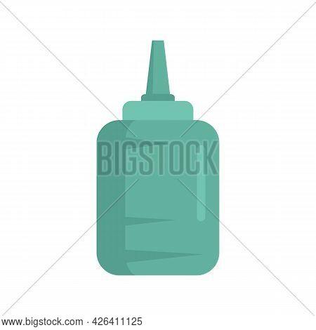 Used Glue Bottle Icon. Flat Illustration Of Used Glue Bottle Vector Icon Isolated On White Backgroun