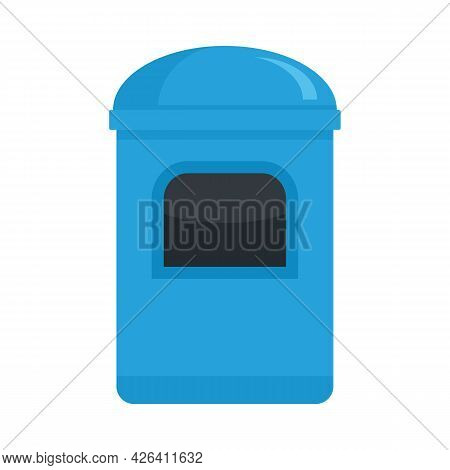 Garbage Box Icon. Flat Illustration Of Garbage Box Vector Icon Isolated On White Background