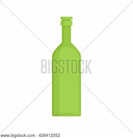 Green Garbage Bottle Icon. Flat Illustration Of Green Garbage Bottle Vector Icon Isolated On White B