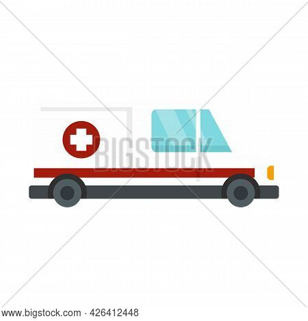Assistant Ambulance Icon. Flat Illustration Of Assistant Ambulance Vector Icon Isolated On White Bac