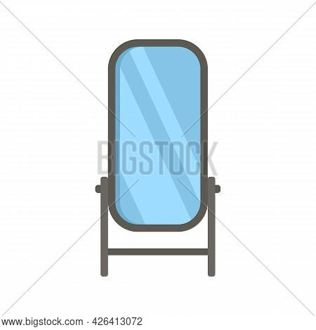 Home Mirror Icon. Flat Illustration Of Home Mirror Vector Icon Isolated On White Background