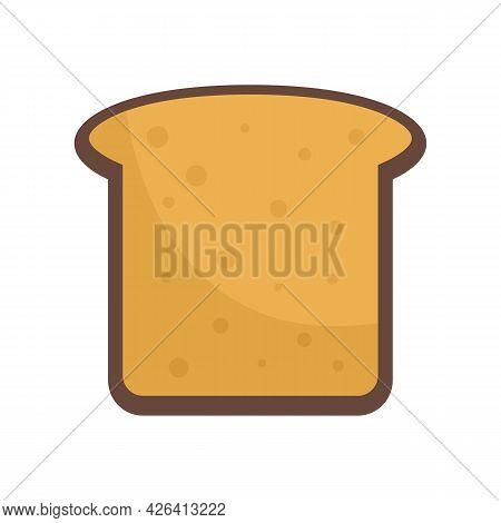 Toast Icon. Flat Illustration Of Toast Vector Icon Isolated On White Background