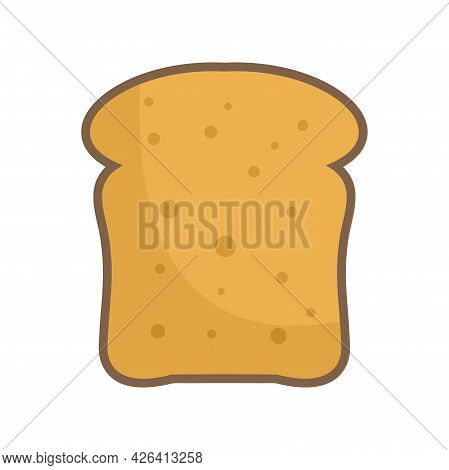 French Toast Icon. Flat Illustration Of French Toast Vector Icon Isolated On White Background