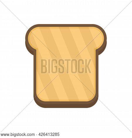Bake Toast Icon. Flat Illustration Of Bake Toast Vector Icon Isolated On White Background
