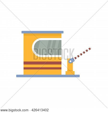 Toll Road Barrier Icon. Flat Illustration Of Toll Road Barrier Vector Icon Isolated On White Backgro