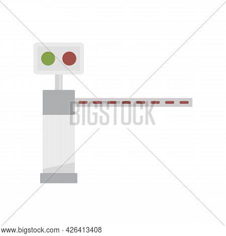 Traffic Lights Toll Road Icon. Flat Illustration Of Traffic Lights Toll Road Vector Icon Isolated On