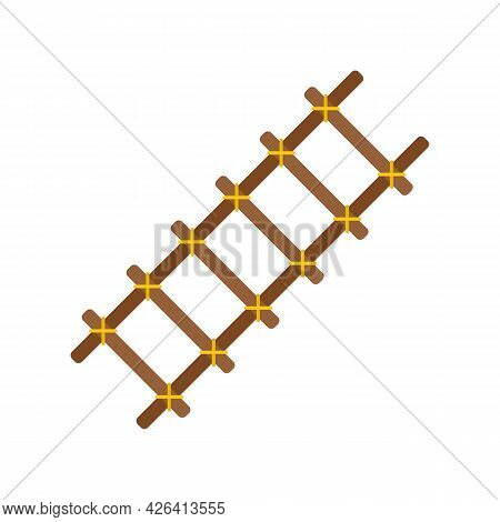 Handmade Ladder Icon. Flat Illustration Of Handmade Ladder Vector Icon Isolated On White Background