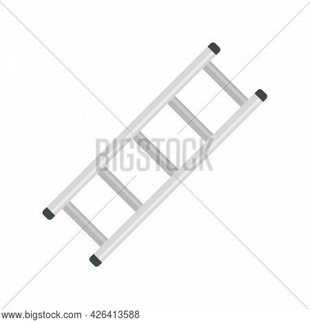 Steel Ladder Icon. Flat Illustration Of Steel Ladder Vector Icon Isolated On White Background