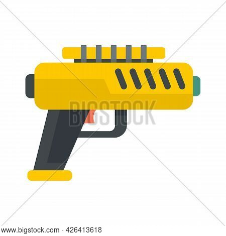 Blaster Gun Icon. Flat Illustration Of Blaster Gun Vector Icon Isolated On White Background