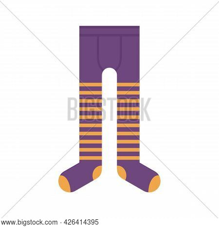 Cotton Tights Icon. Flat Illustration Of Cotton Tights Vector Icon Isolated On White Background