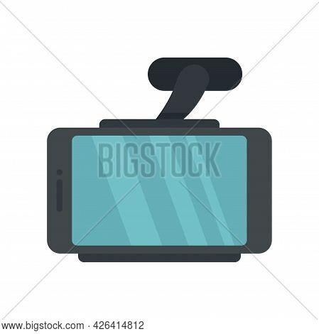 Car Phone Data Charger Holder Icon. Flat Illustration Of Car Phone Data Charger Holder Vector Icon I
