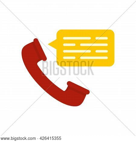 Call Center Icon. Flat Illustration Of Call Center Vector Icon Isolated On White Background
