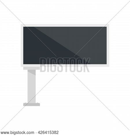 Street Billboard Icon. Flat Illustration Of Street Billboard Vector Icon Isolated On White Backgroun