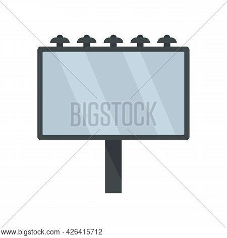 City Billboard Icon. Flat Illustration Of City Billboard Vector Icon Isolated On White Background