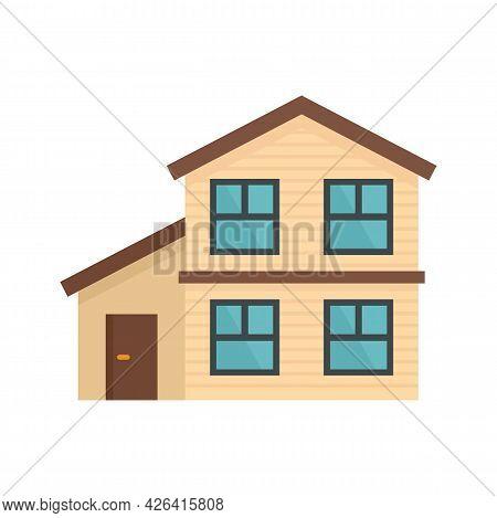 Cottage House Icon. Flat Illustration Of Cottage House Vector Icon Isolated On White Background