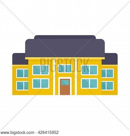 House Cottage Icon. Flat Illustration Of House Cottage Vector Icon Isolated On White Background