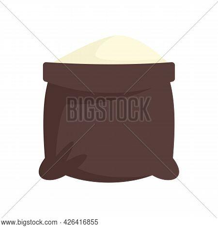 Open Flour Sack Icon. Flat Illustration Of Open Flour Sack Vector Icon Isolated On White Background
