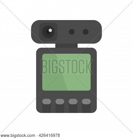 Dvr Recorder Icon. Flat Illustration Of Dvr Recorder Vector Icon Isolated On White Background