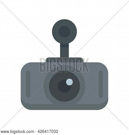 Modern Car Recorder Icon. Flat Illustration Of Modern Car Recorder Vector Icon Isolated On White Bac
