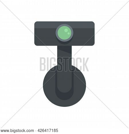 Digital Car Recorder Icon. Flat Illustration Of Digital Car Recorder Vector Icon Isolated On White B