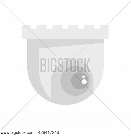 Indoor Security Camera Icon. Flat Illustration Of Indoor Security Camera Vector Icon Isolated On Whi