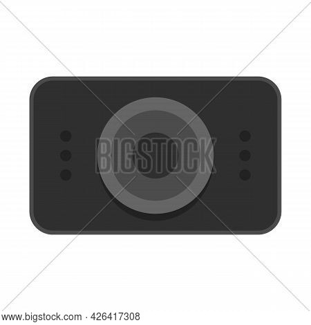 Car Registrator Icon. Flat Illustration Of Car Registrator Vector Icon Isolated On White Background