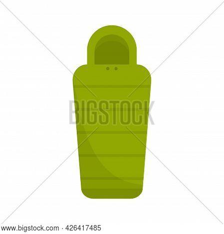 Sleeping Bag Equipment Icon. Flat Illustration Of Sleeping Bag Equipment Vector Icon Isolated On Whi