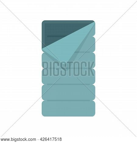 Fabric Sleeping Bag Icon. Flat Illustration Of Fabric Sleeping Bag Vector Icon Isolated On White Bac