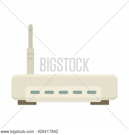 Router Equipment Icon. Flat Illustration Of Router Equipment Vector Icon Isolated On White Backgroun