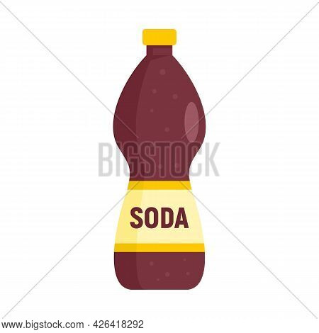 Soda Drink Icon. Flat Illustration Of Soda Drink Vector Icon Isolated On White Background