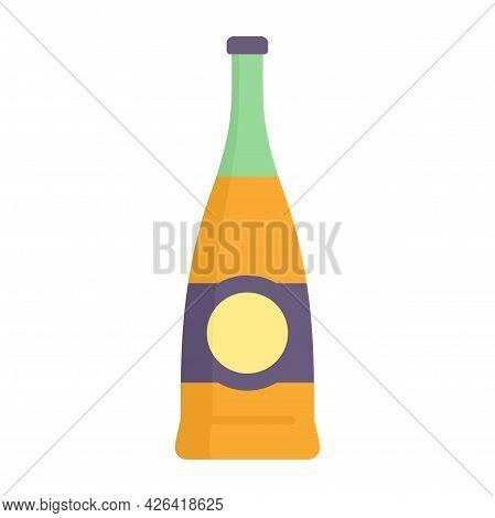 Supermarket Soda Bottle Icon. Flat Illustration Of Supermarket Soda Bottle Vector Icon Isolated On W